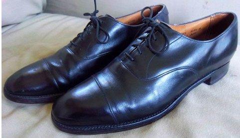 Lloyd & Haig Custom Built black cap-toe oxfords - 0.jpg