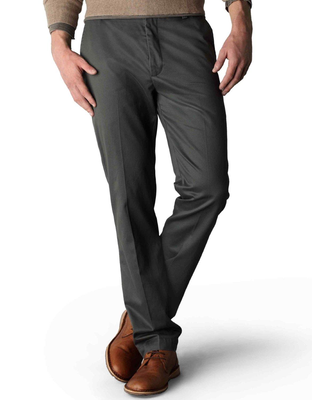 Simple Grey Coat Brown Pull Grey Pants Brown Shoes Gentleman Style Men39s