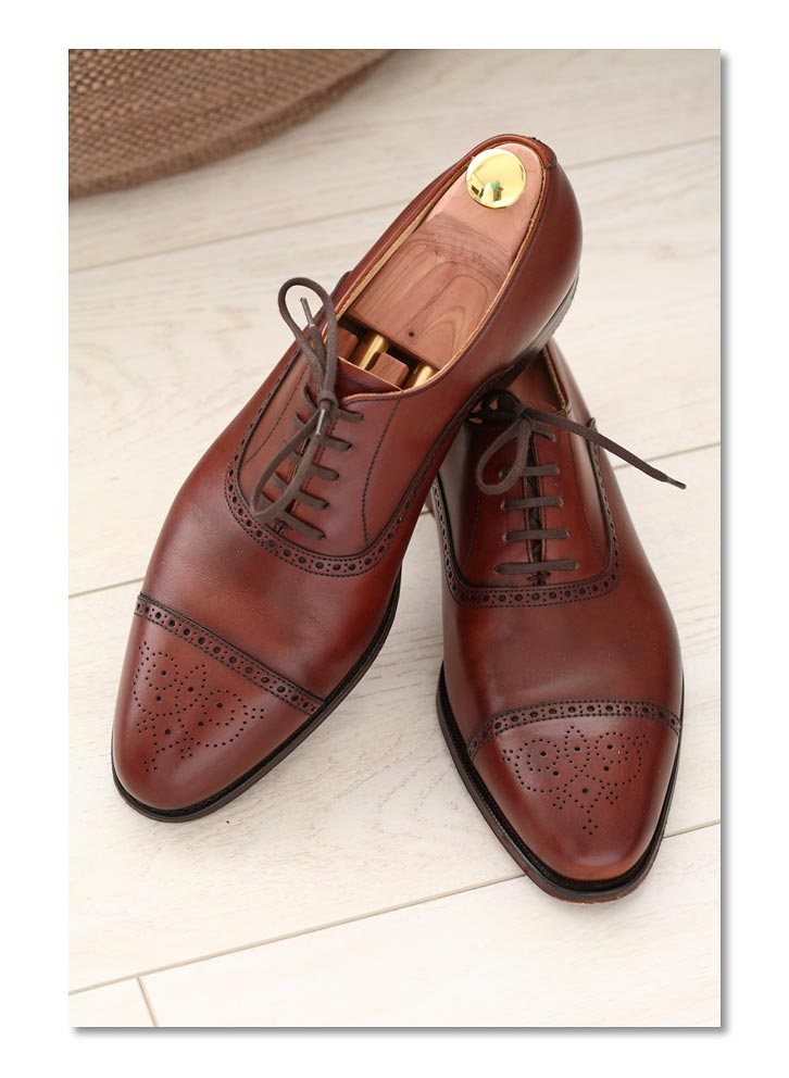 Chestnut Burnished Calf Malton Semi-Brogue - 360 Last