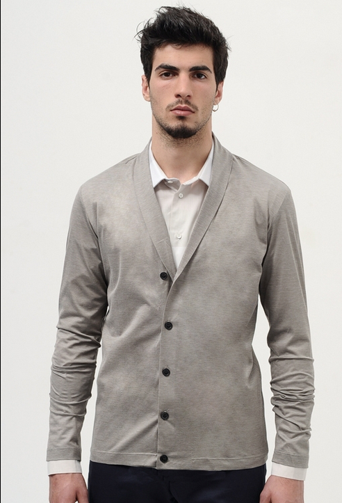 Piquet Beige Cardigan - wrongweather.png