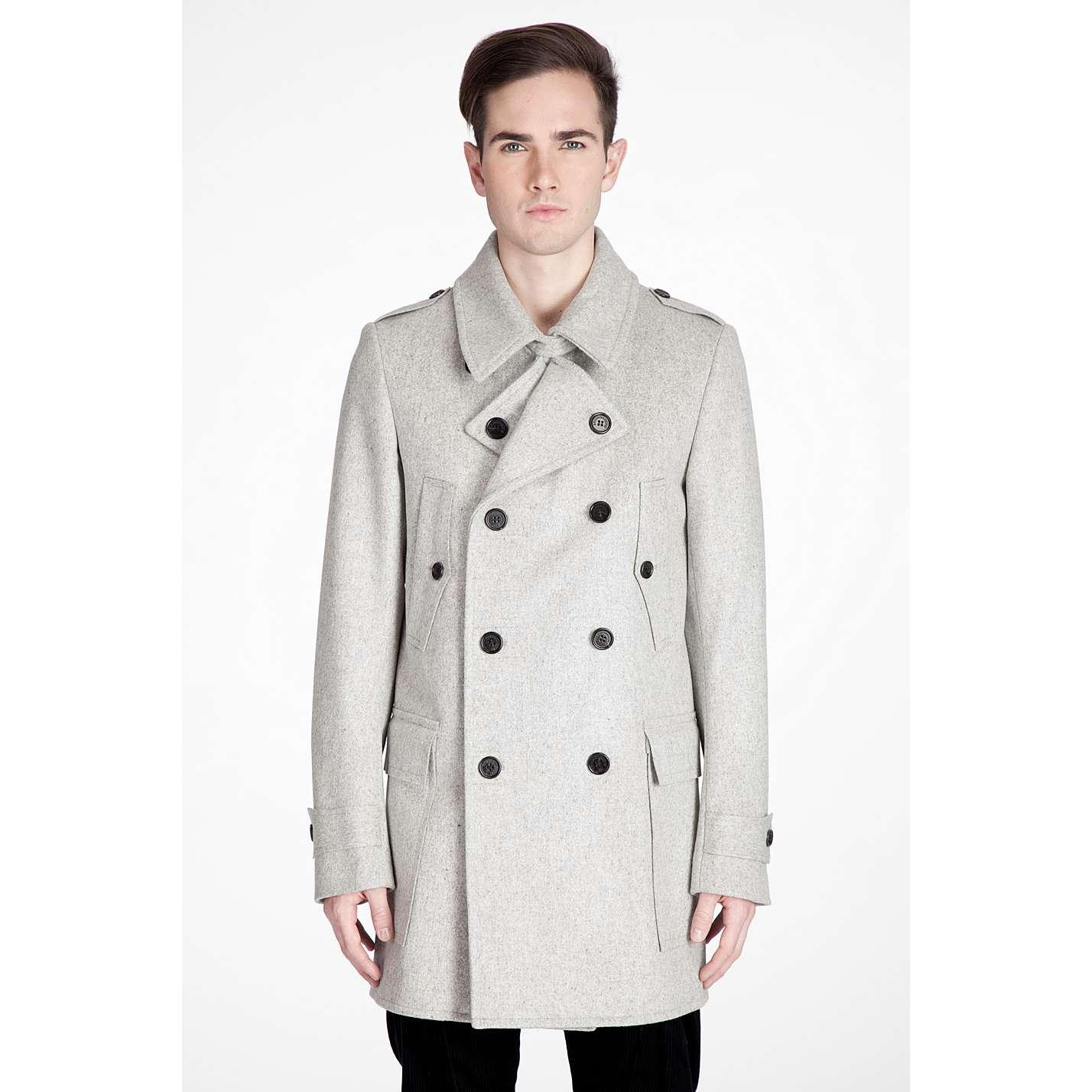 NEW Kris Van Assche grey wool coat size 50 | Styleforum