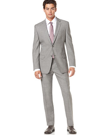 Light Grey Suit With Sweater Vest Styleforum