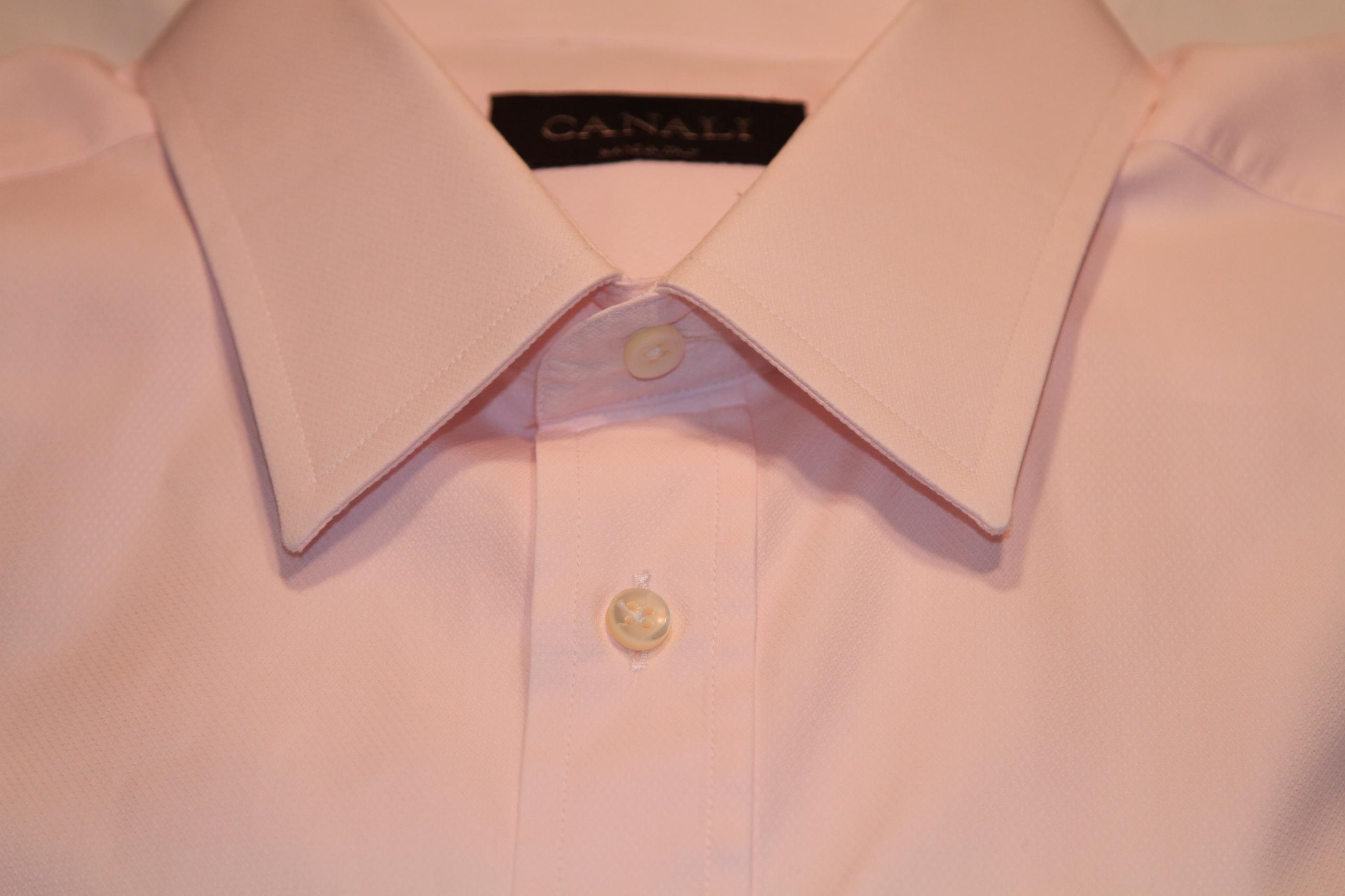 #13 - Canali 41/16 Light Pink Solid (subtle diamond pattern)