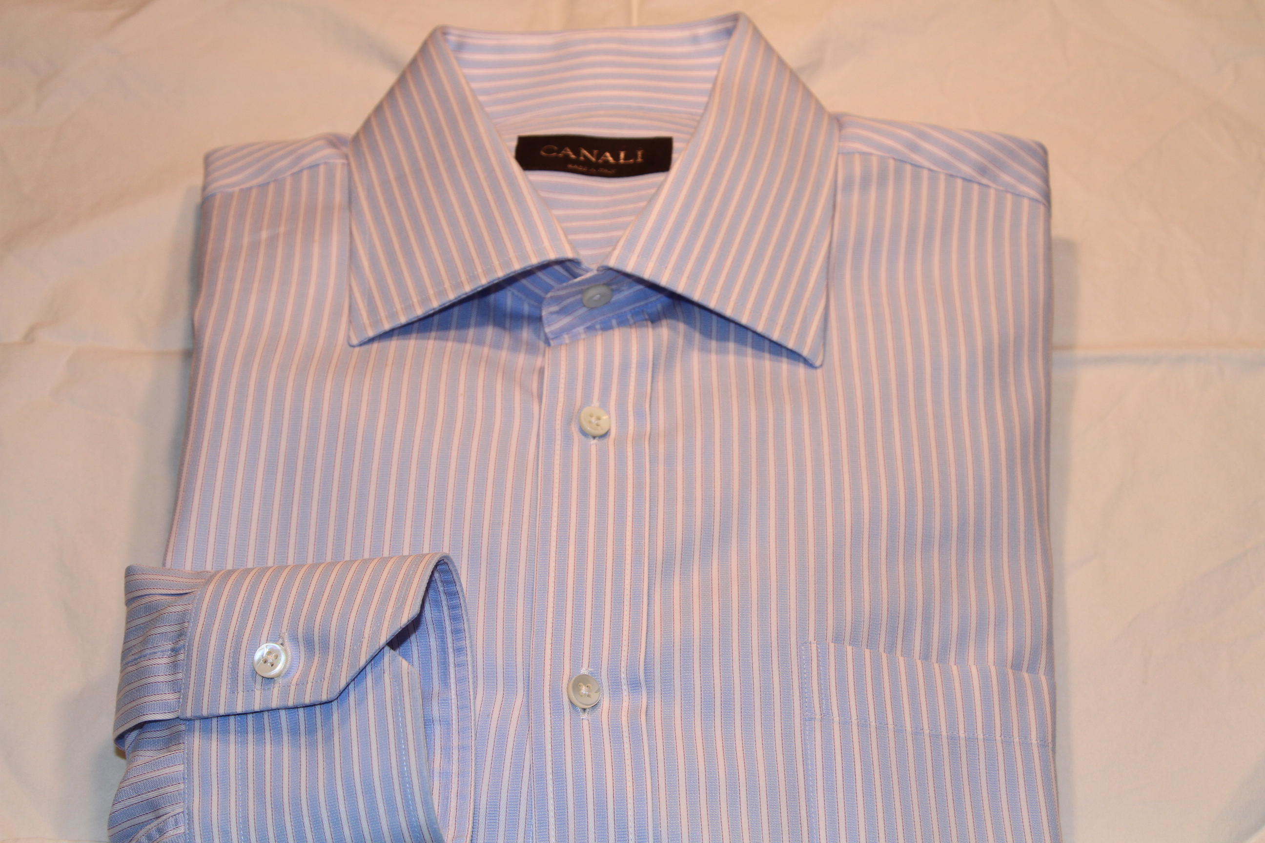 #17 - Canali 41/16 Blue with White and Red Stripe