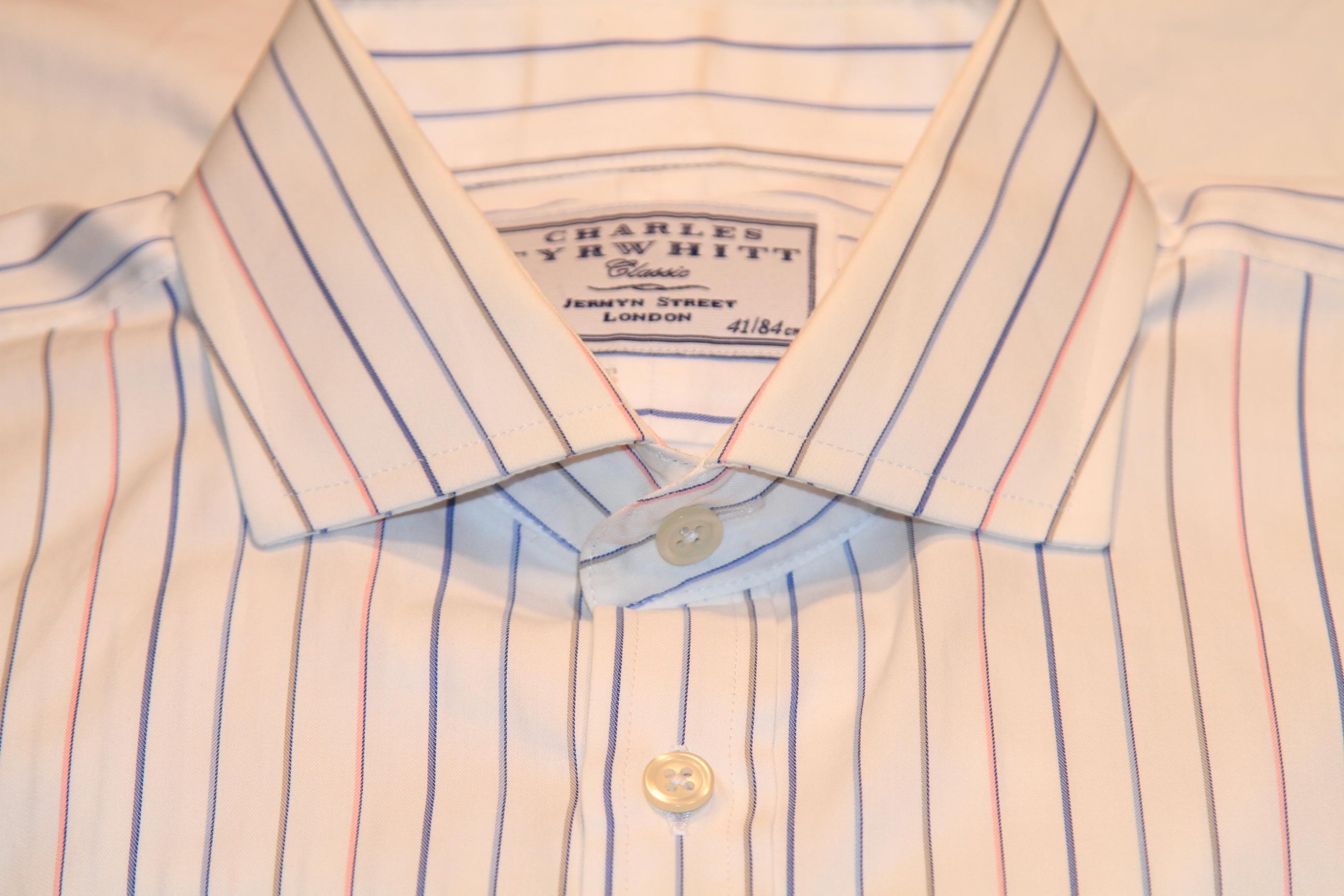#23 - Charles Tyrwhitt 16/33 White Multi-colored stripe