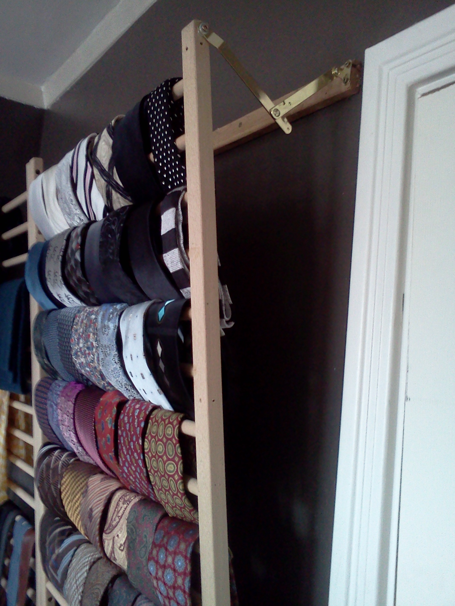 sits door styleforum rack with are my lack space behind ties half the closet other threads to room due in wall of tie mounted closed nicely instead displayed