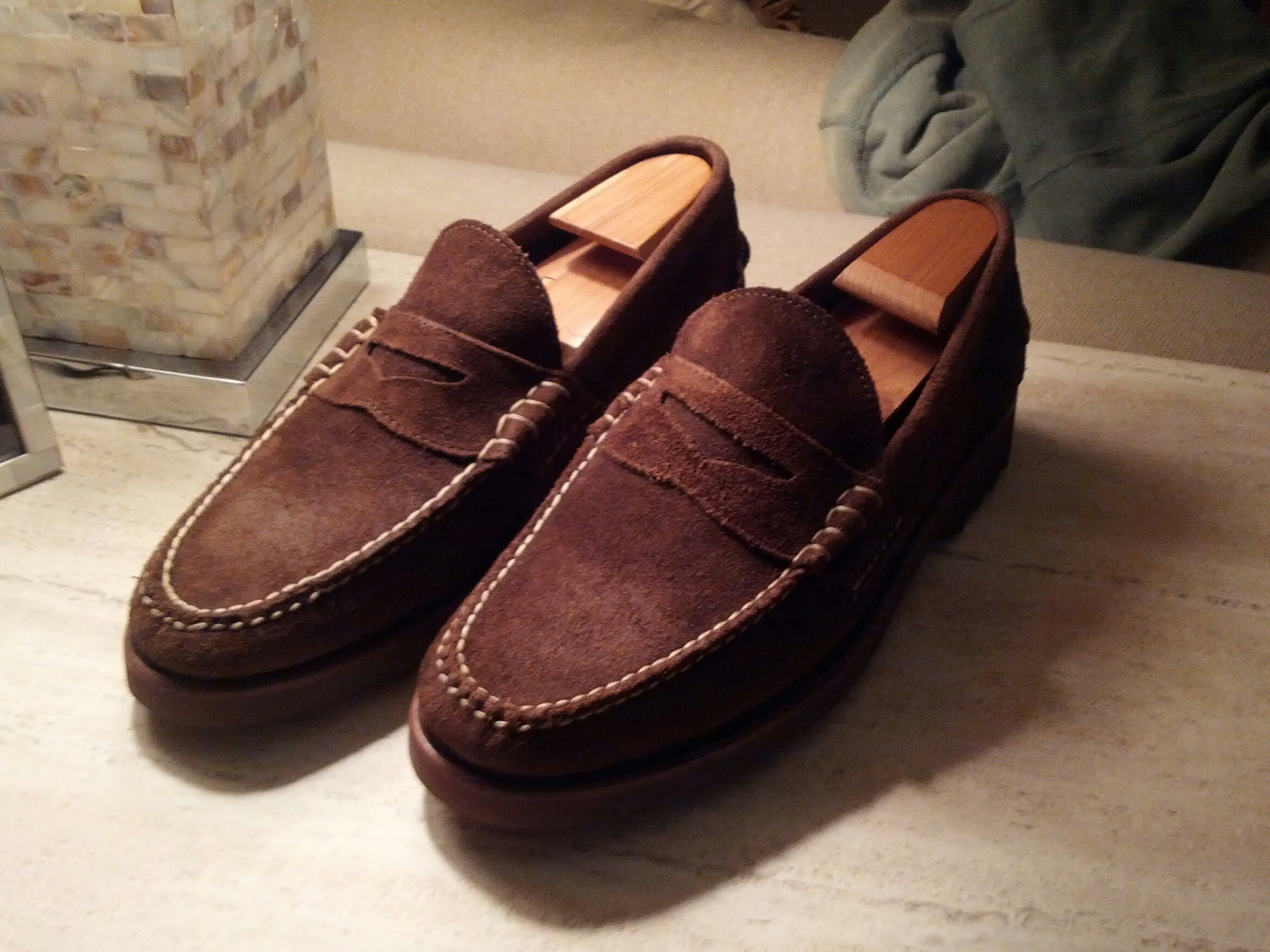 798b7a75ea1 New Rancourt   Co. Suede Beefroll Penny Loafers for RL Size 11D FREE ...