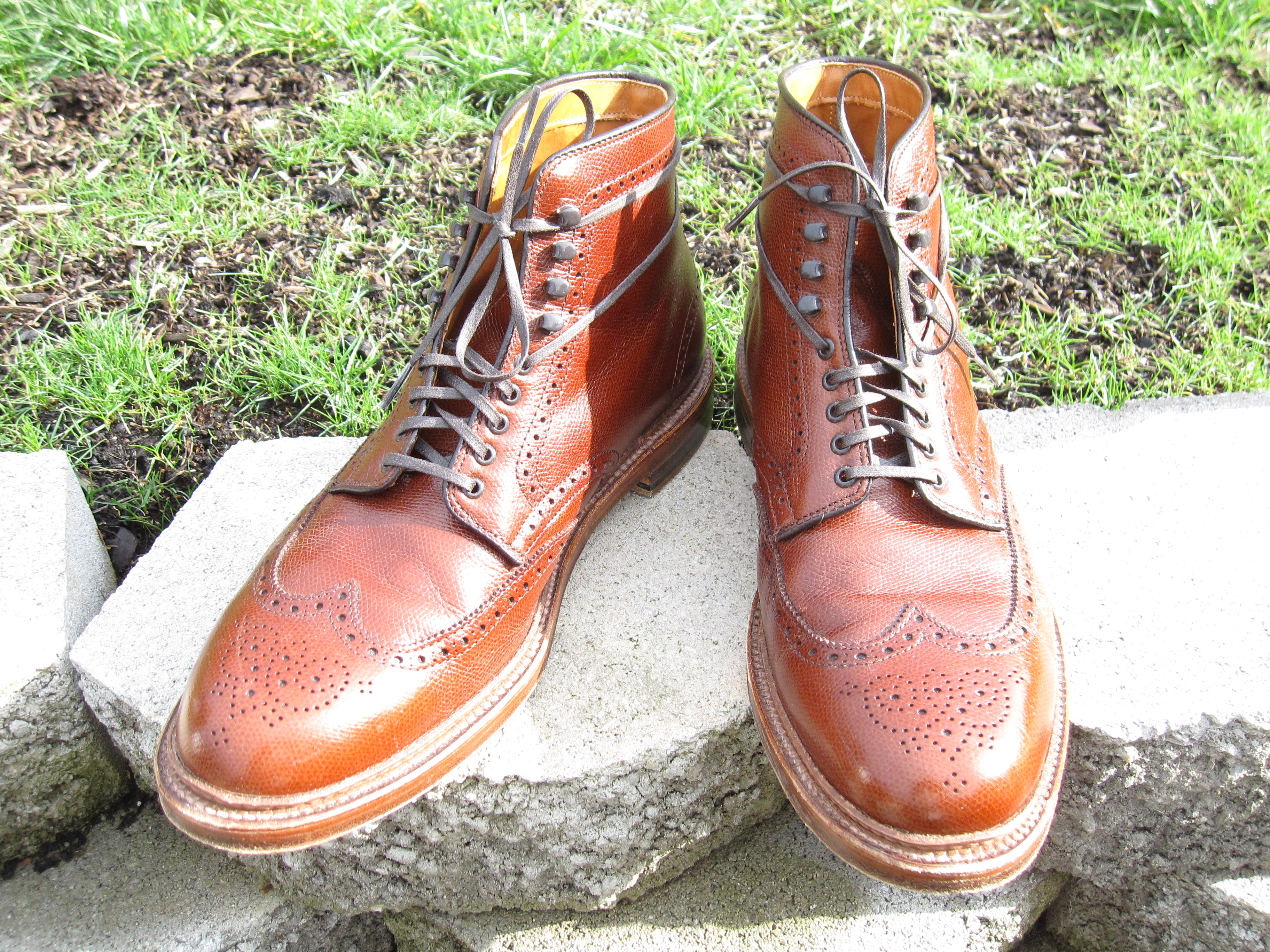 Aldne Brown Alpine Grain Wingtip Boot