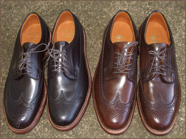 Dark brown calf from Leather Soul VS Alden of Carmel Cigar Longwing