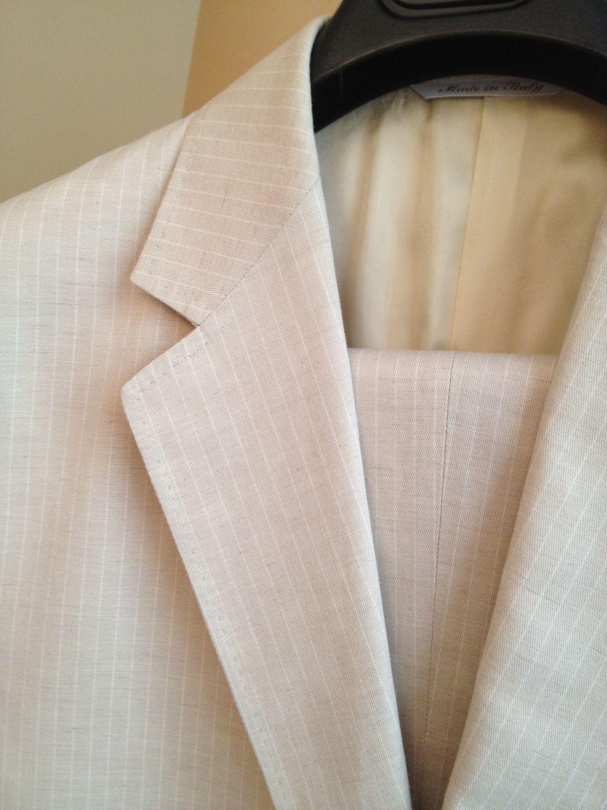 Canali Linen Suit (Size 52 European)