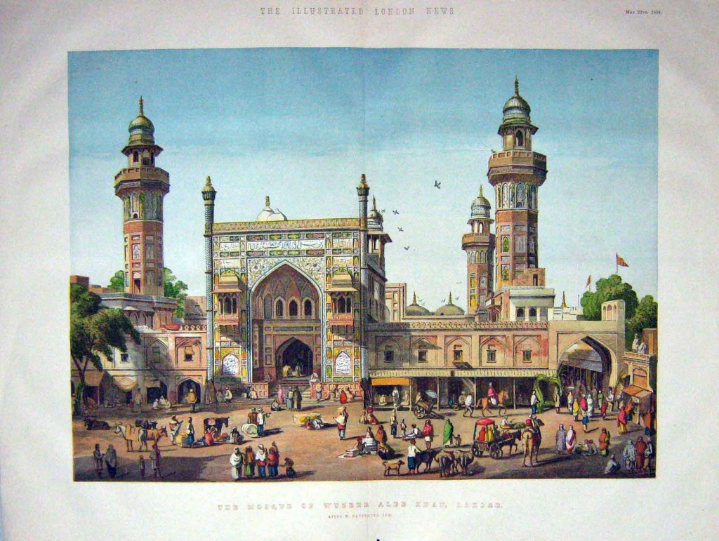"""The Mosque of Wuzeer Ulee Khan,"" published by the Illustrated London News, 1858"