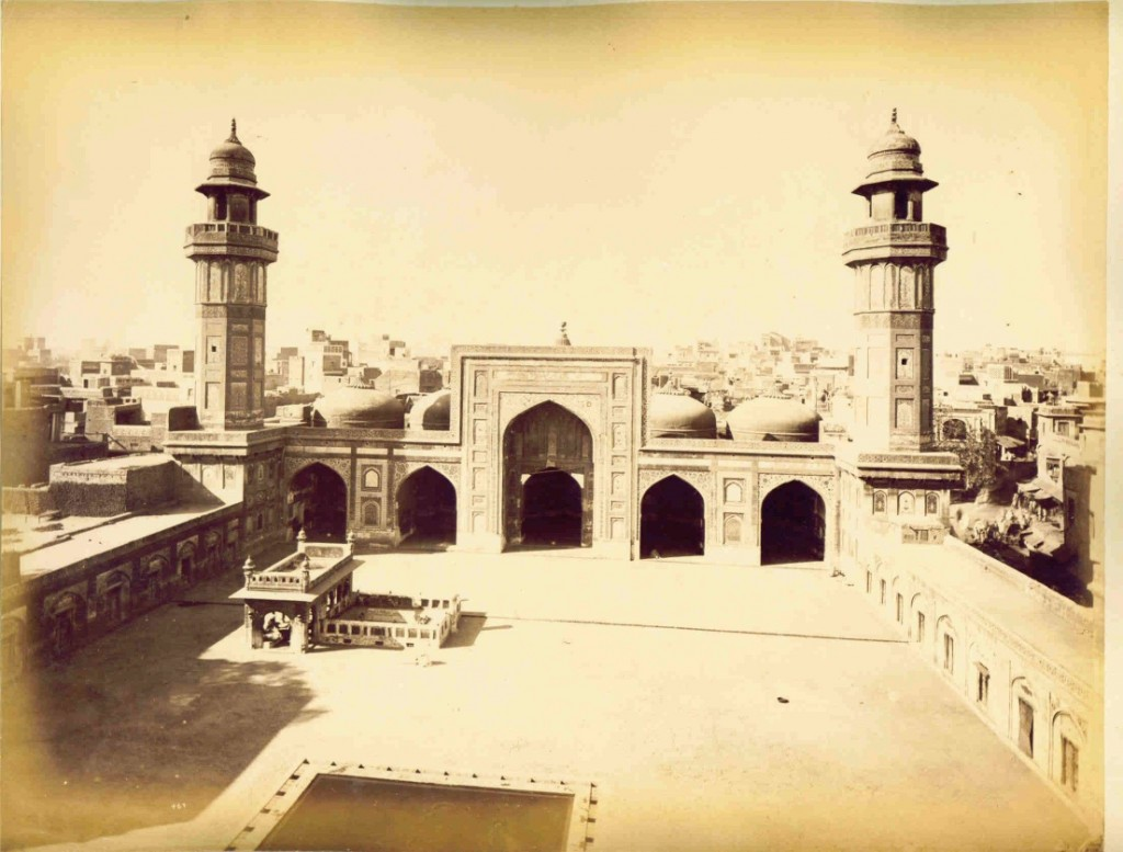 Wazir Khan Mosque in the 1880s