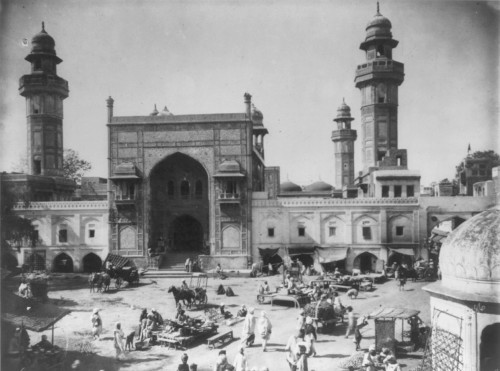 Wazir Khan Mosque in 1895 - Photo by Jackson, William Henry, 1843-1942, photographer;