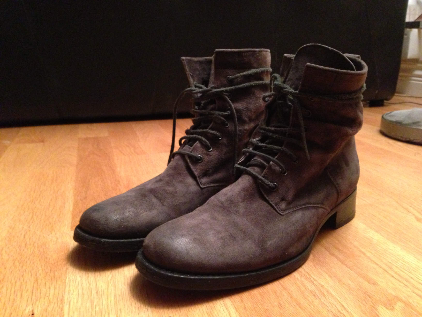 FS: Buttero Work Boot in Grey Suede