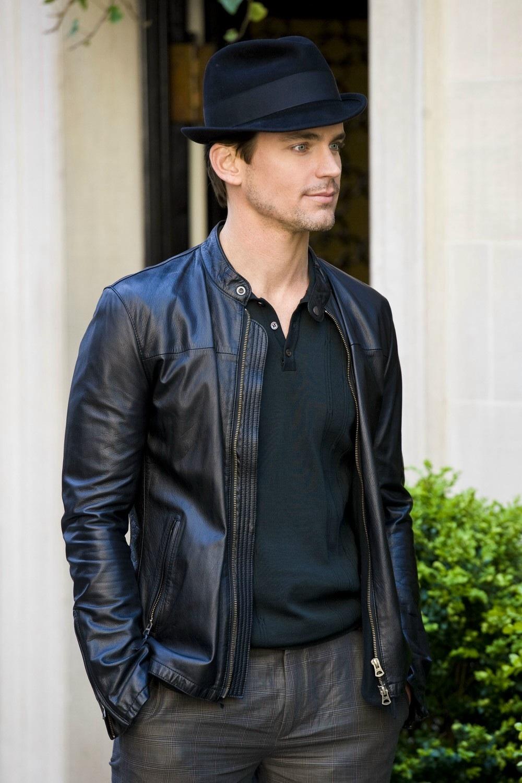 Matt Bomer Leather Jacket in White Collar (Neal Caffrey)