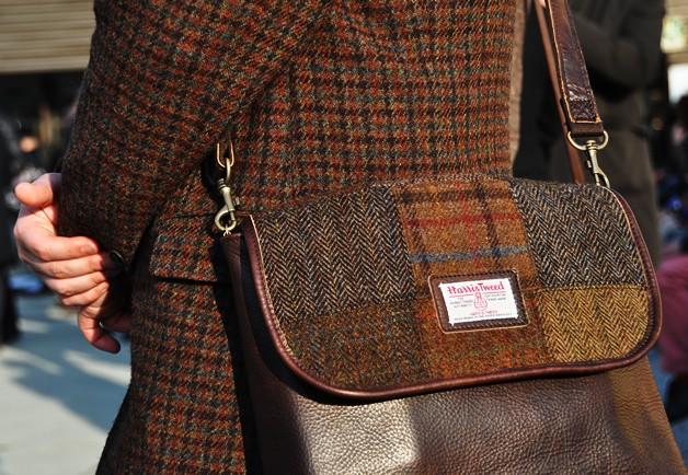 Harris Tweed patchwork bag