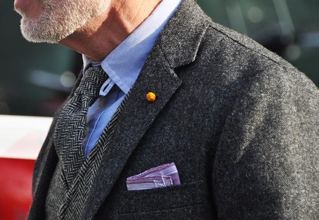 Herringbone Tweed jacket vest tie