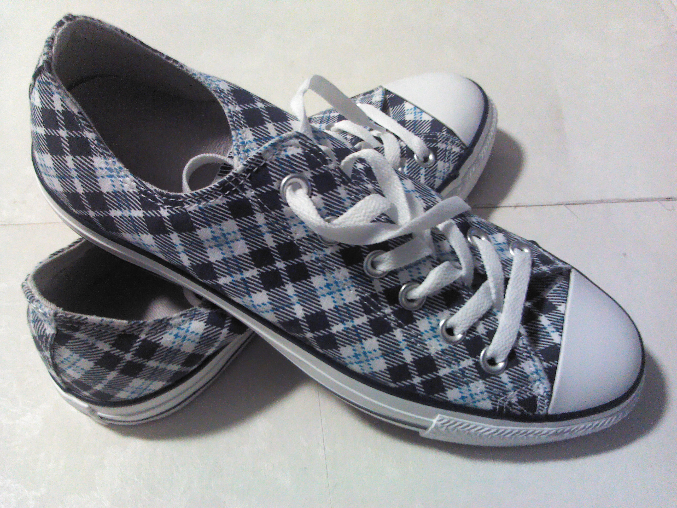 Blue/Teal Argyle Chucks