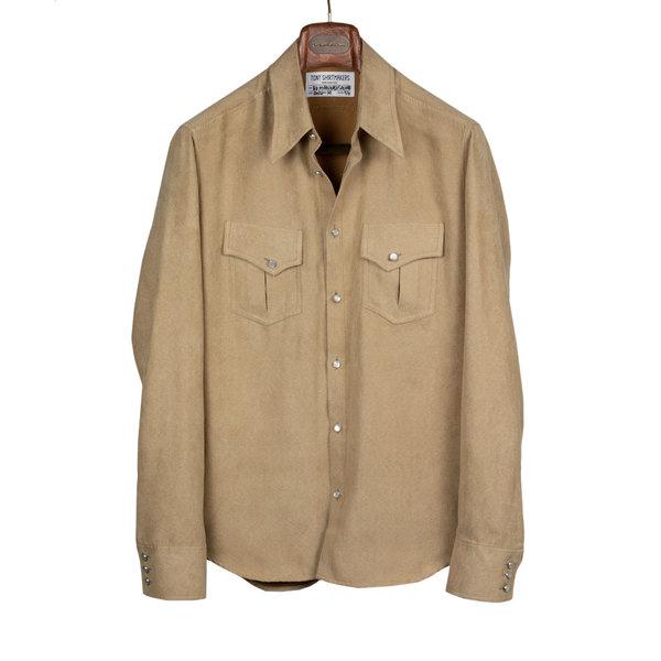 Tony Shirtmakers New York Vegan Suede Western Shirt Jacket Shacket (10).jpg