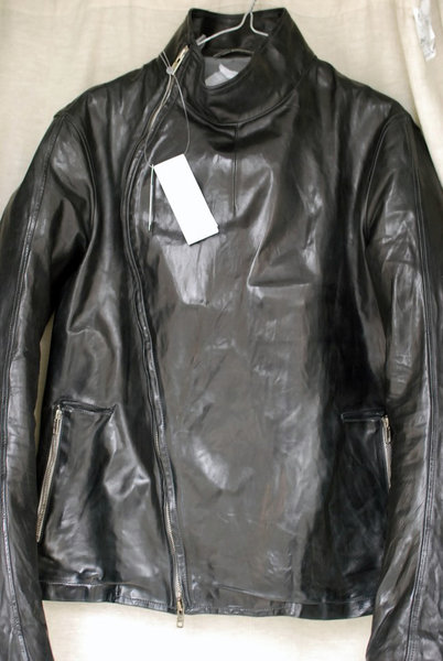 Carol Christian Poell Fencing Leather Jacket Size 50