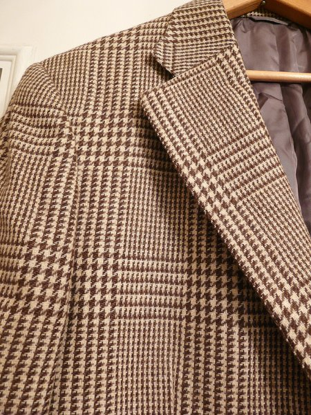 d38acdc7f8955 BOLD Vintage Norman Hilton Brown/Beige Glen Plaid Sport Coat 40 R ...