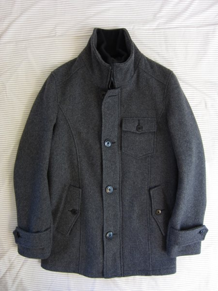Schott wool Car Coat - (S) Small - Oxford gray | Styleforum