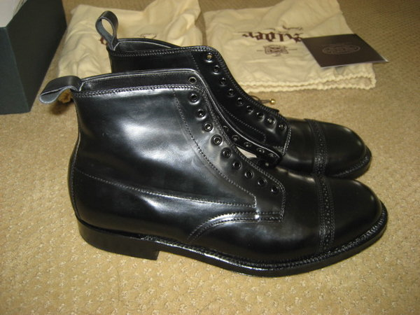 8d28b25ddbb Alden/Leather Soul Black Shell Cordovan Jumper Boots size 8.5D NIB ...