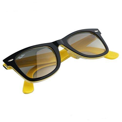 Ray Ban Original Wayfarer Black/Yellow Frame Crystal Grey ...
