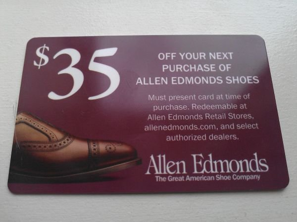 Allen edmonds recrafting coupons