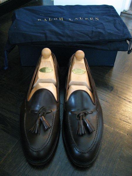 db038450855 Ralph Lauren Marlow tassel loafers in Dark Brown Cordovan