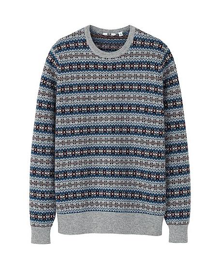 BNWT Uniqlo Fair Isle Crew Neck Sweater - Size Small | Styleforum