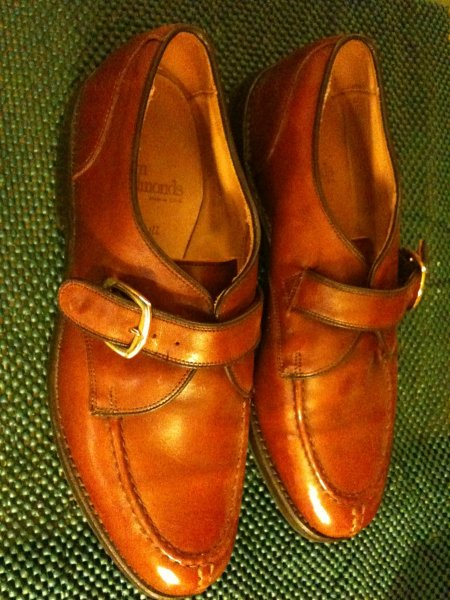 big sale d0e89 b40eb Allen Edmonds Cornell Monkstrap size 9.5 brown shoes Made in ...
