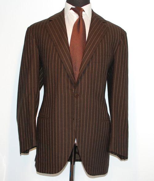 Brown Pinstripe Suit - Hardon Clothes