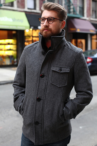 LAST DROP* Schott Car Coat - Grey Wool, S | Styleforum