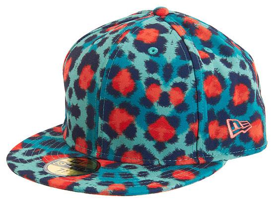 91afeb2a786 Kenzo X New Era Hat Teal Orange Leopard Print 7