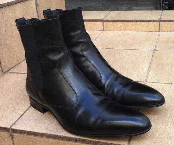 5b24465e5a5 Dior Homme 07 FW Black Leather Chelsea Boots 44 Hedi Slimane ...