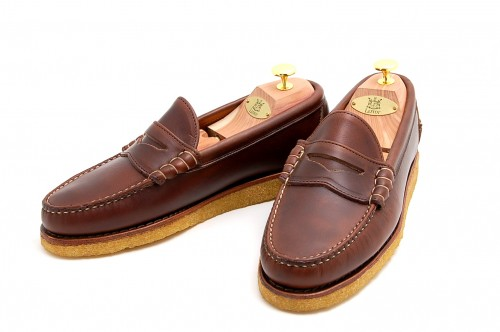 f1607e82197 8.5D Leffot Beefroll Brown Chromexcel Loafers with Crepe Sole ...