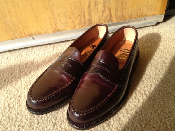 c6c9f18c01552 Alden for Brooks Brothers shell cordovan unlined penny loafers color ...