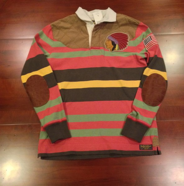 Rugby Ralph Lauren Indian Head Rugby Shirt- Size