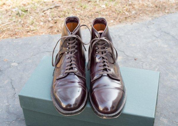 Alden Cordovan Straight Tip Boots 8 Shell Styleforum