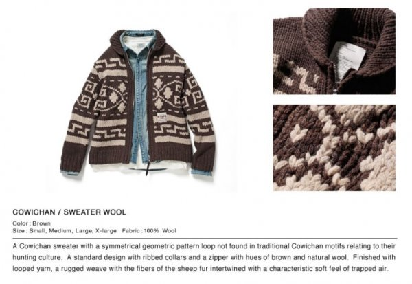 a29d85fed7a WTAPS Cowichan Sweater Size 2 (Medium)