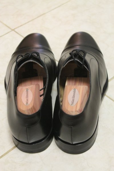 695fb5b5e1a43 Once-worn Cheaney Lime UK 9 F Black Calf Leather Oxford