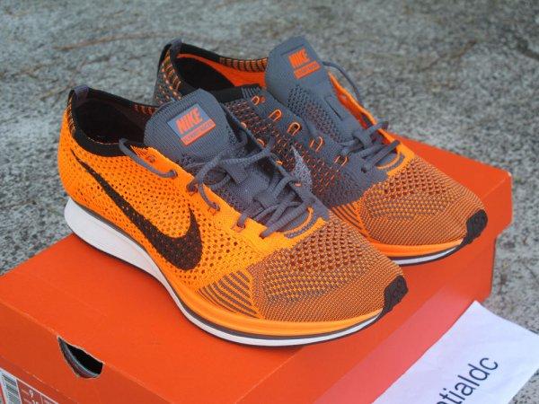 huge selection of b9758 0715c Nike Flyknit Racer Total Orange Men s Size 9   Styleforum