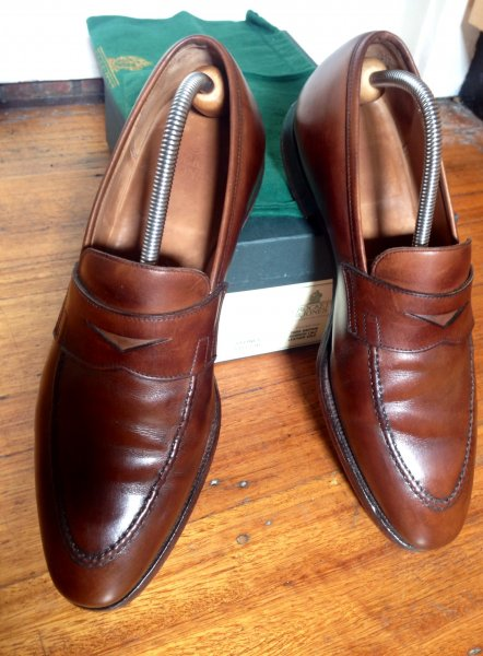 3502ad260b4 Crockett and Jones Sydney Loafers - Brown Calf (with Box and Shoe ...
