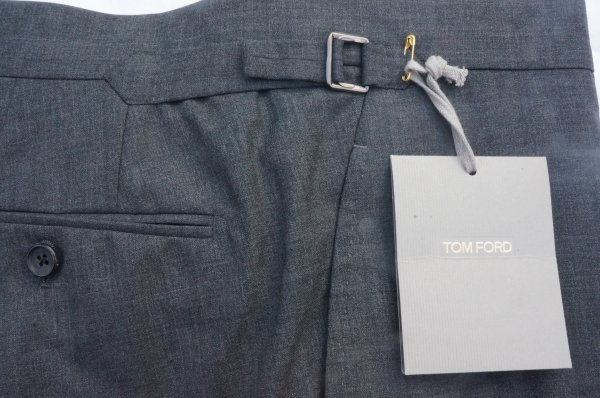 Tom Ford Gray Wool Pants W Side Adjusters Nwt 37 Quot 54