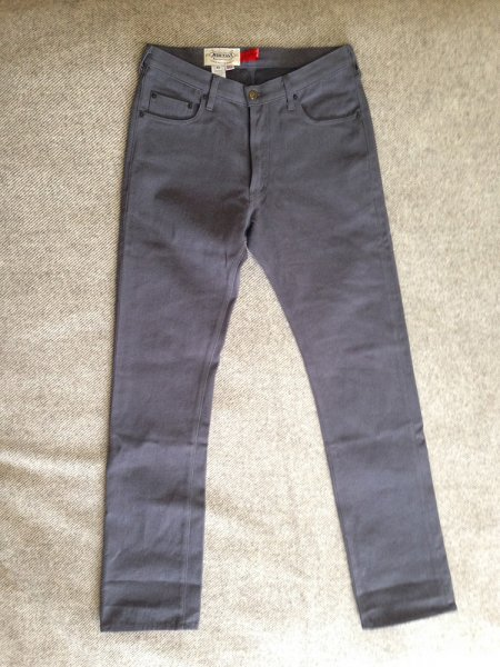 NWT Monitaly Charcoal Brushed Twill Jeans Denim 32 | Styleforum
