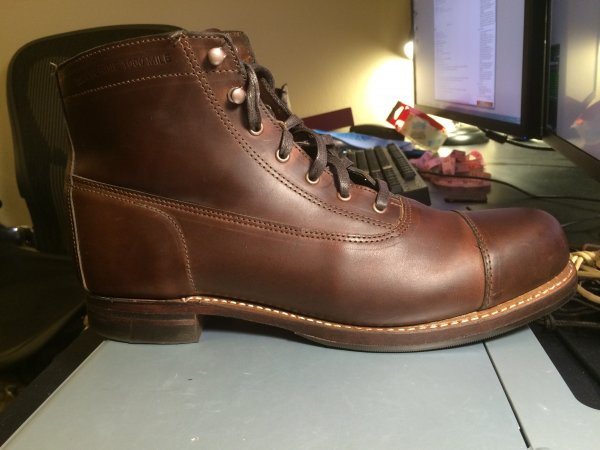d8489ecedbe Wolverine 1000 Mile Rockford Cap-Toe Boots -- size 11.5D -- near new ...