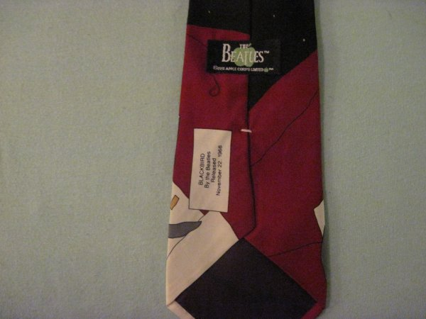 12fcd617ee1d Beatles Necktie Blackbird Mens Vintage Silk Classic Tie Apple Corp ...