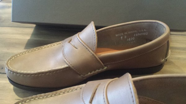 578df7bc454 NEW Rancourt   Co. Custom Pinch Penny Loafers 9D Natural w  Dark ...