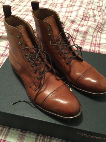 2f276035bee Allen Edmonds - First Avenue Dress Boot - Size 9D - Walnut | Styleforum